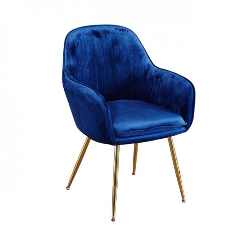 Lara Dining Chairs Vintage Blue With Gold Legs 2x