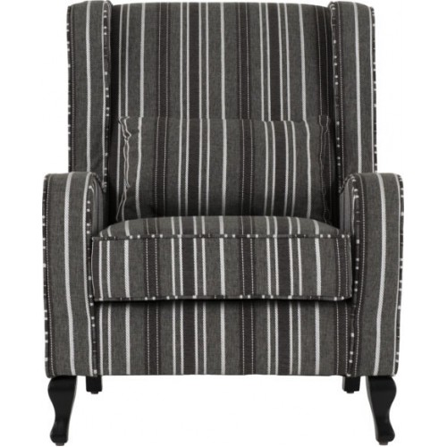 Sherborne Fireside Chair Grey Stripe Fabric
