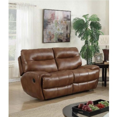 Bailey Recliner Leather Gel & PU 2 Seater REd