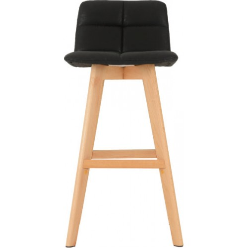 Darwin Bar Chair (PAIR) Black Faux Leather