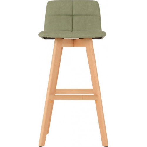 Darwin Bar Chair (PAIR) Green Faux Leather