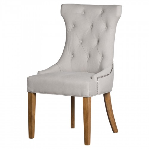 Cream High Wing Ring Backed Dining Chair