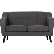 Ashley 2 Seater Sofa Dark Grey Fabric